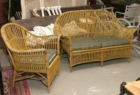 Vintage Bamboo Patio Furniture - 1930s stick wicker sofa u0026 chair set omero home