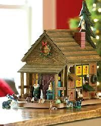 wood advent calendar wooden cabin advent calendars