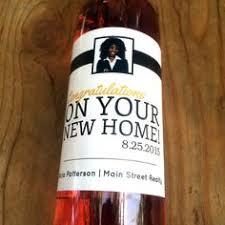 new home wine labels realtor favor wine labels housewarming