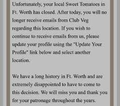 sweet tomatoes closes dfw restaurants fort worth telegram