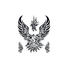 very big tribal eagle tattoo tattoo sticker