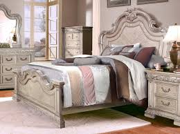 Antique Style Bed Frame Antique Style Bed With Carved Details In Antique White