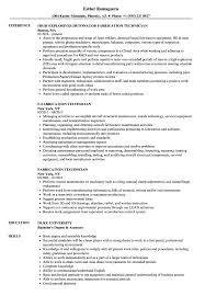 resume format exles for steel fabrication fabrication technician resume sles velvet jobs