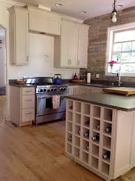 built in wine rack in kitchen cabinets kitchen decoration