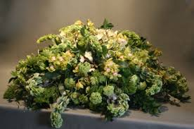 casket spray green casket spray jephry floral studio