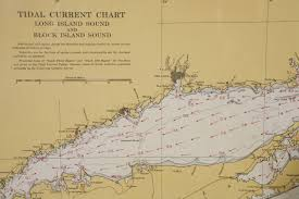 Block Island Map 1960s Set Of Six Long Island Tidal Current Charts Or Maps For Sale