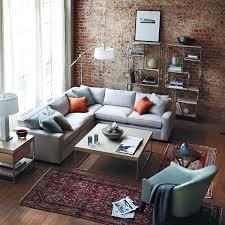 brick wall living room design home design ideas