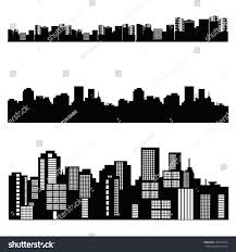 House Silhouette by Vector House Silhouette Skyscraper Windows Building Stock Vector