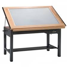 Drafting Table With Light Mayline Ranger Light Table