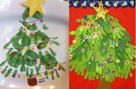 8 handprint crafts wreath tree reindeer snowman