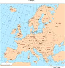 Interactive Map Of Europe by Europe Map With Cities Blank Outline Map Of Europe