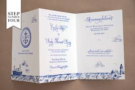 folding wedding invitations diy tutorial sted nautical tri fold wedding invitation suite