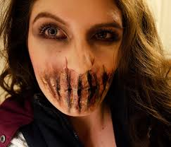 bane sliced mouth sfx makeup facepaint tutorial stage makeup