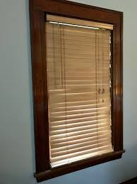 Windows And Blinds Dark Wood Window Trim And Blinds