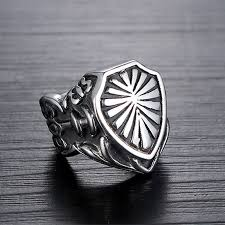metal rings jewelry images Cool stainless steel armor shield ring knight templar crusade jpg