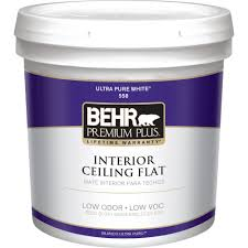 home depot interior behr premium plus 2 gal white flat ceiling interior paint 55802