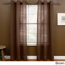 miller curtains preston 63 inch grommet sheer panel 48