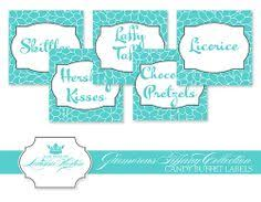 Candy Labels For Candy Buffet by Candy Buffet Labels Custom Color S Font Printable Custom