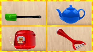 Kitchens For Kids by Learn Names Kitchen Items For Children Part 3 Learning Words In