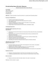 media broadcasting resume career specific broadcast media resume
