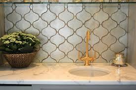 Arabesque Backsplash Tile by Silver Arabesque Backsplash Tiles Transitional Kitchen