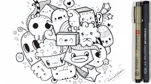 how i doodle a quick kawaii doodle u203f youtube