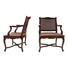 galette de siege paire de fauteuils louis xiv cannés modèle tilliard avec galette