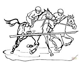 race horse coloring free printable coloring pages