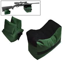 Portable Bench Rest Shooting Stand Hunting Large Shooting Bag Rifle Rest Range Gear Front Rear Bag