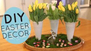 Spring Home Decorations Diy Spring And Easter Centerpiece Display Home Decor Idea Youtube