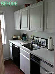 diy kitchen cabinets without doors before after kitchen cabinet makeover apartment envy
