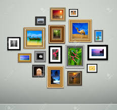 Picture Frame On Wall by Photo Frames On Wall Vector Vintage Picture Frames Royalty Free