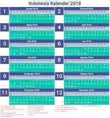 Kalender 2018 Hari Libur Indonesia 2018 Calendar Indonesia Ma3sa