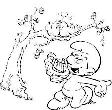 kids fun 59 coloring pages smurfs