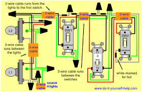 3 way and 4 way wiring diagrams with multiple lights do it
