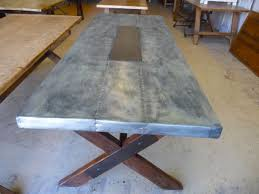 Zinc Top Bar Table Zinc Top Breakfast Table Several Ideas Of Zinc Table Top That