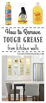 what is the best cleaner to remove grease from kitchen cabinets removing grease from painted kitchen walls house cleaning