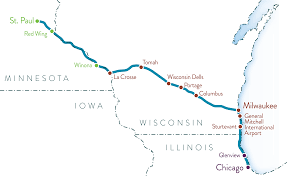Chicago Trains Map by Twin Cities Milwaukee Chicago Intercity Passenger Rail Service