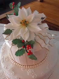 Christmas Cake Decorations Poinsettia by 142 Best Christmas Cakes Images On Pinterest Holiday Cakes