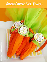 easter table favors diy easy mock carrot easter party favors party ideas