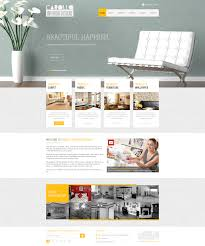 home interior website creative interior designer website design concept