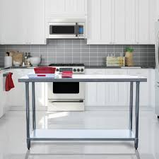 Sportsman Stainless Steel Kitchen Utility TableSSWTABLE The - Stainless steel kitchen tables