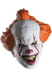 scary mask it pennywise 1 2 mask purecostumes
