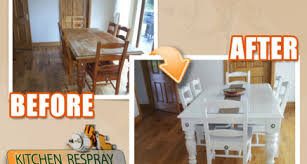 Furniture Respray Kitchen Respray - Painted kitchen tables and chairs