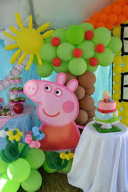 peppa pig decorations great ideas for a peppa pig party