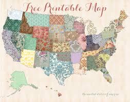 printable map of usa free printable usa map shabby chic