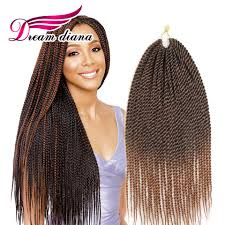 Black To Brown Ombre Hair Extensions by Senegalese Twist Hair Crochet 18 Inches 30 Strands Crochet Braids