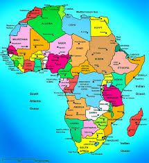 the map of africa maps of continent countries capitals and flags travel