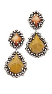 dannijo earrings dannijo mandaria earrings in brown lyst