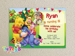 winnie the pooh birthday invitations templates 28 images